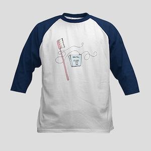 Toothbrush And Floss Dentist Kids Baseball Jersey