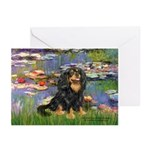Lilies (2) & Cavalier (BT) Greeting Cards (Pk of 1