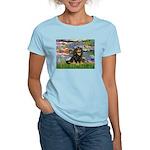 Lilies (2) & Cavalier (BT) Women's Light T-Shirt