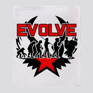 Motorcycle Evolution Throw Blanket
