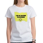 I GOT MY TAN FROM THE OUTDOORS Women's T-Shirt