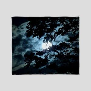Moon through the trees. Throw Blanket