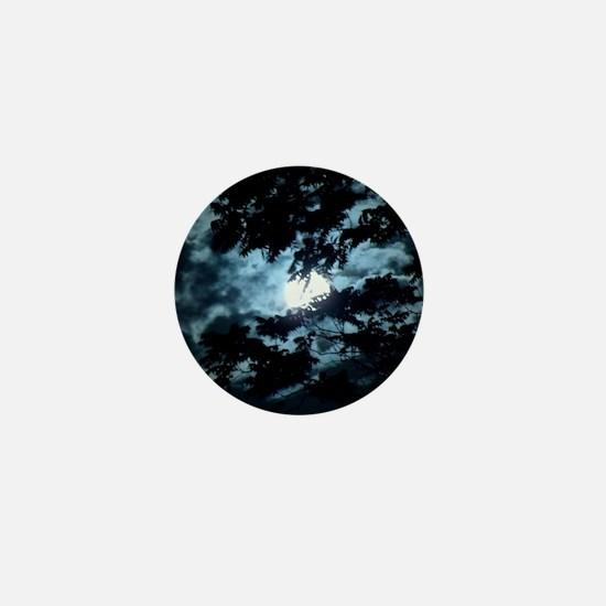 Moon through the trees. Mini Button