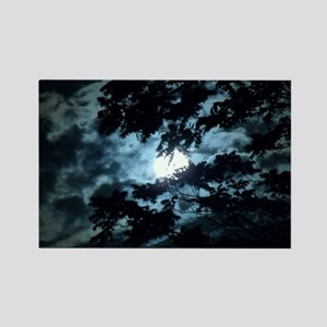 Moon through the trees. Rectangle Magnet