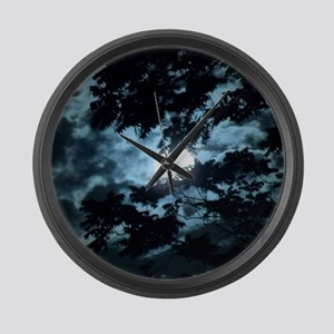 Moon through the trees. Large Wall Clock