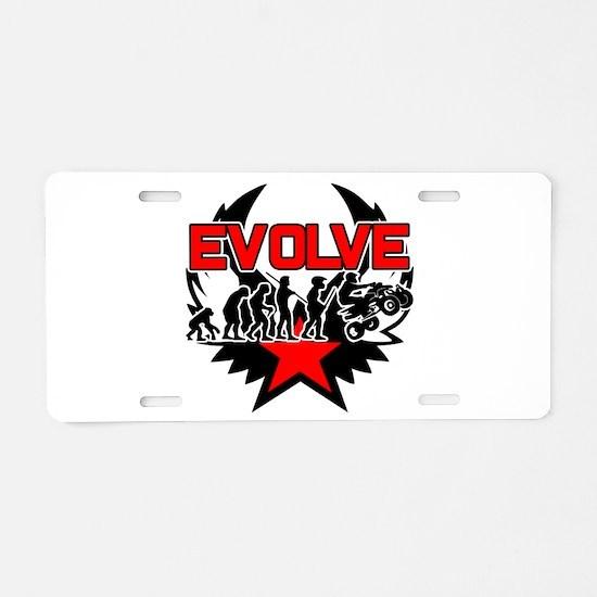 ATV Evolution Aluminum License Plate
