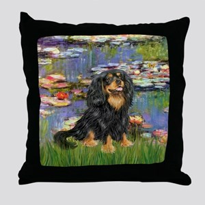 Lilies (2) & Cavalier (BT) Throw Pillow