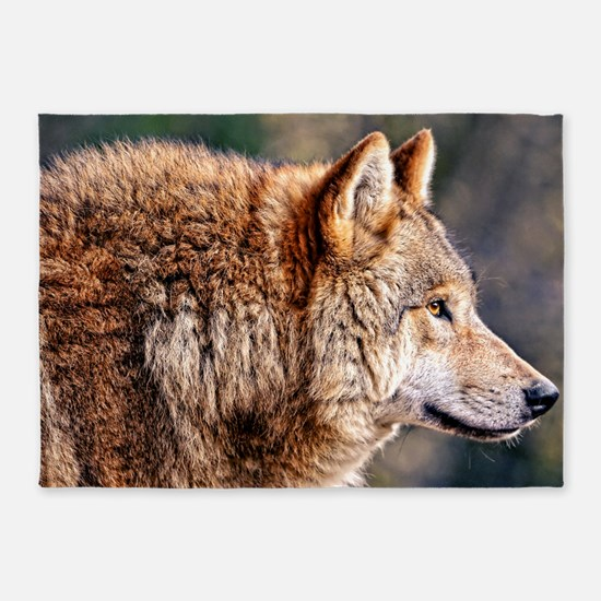 Golden Wolf 5'x7'Area Rug