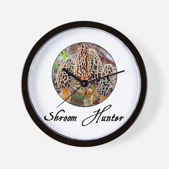 shroom hunter Wall Clock