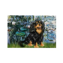 Lilies (1) & Cavalier (BT) Rectangle Magnet (10 pa