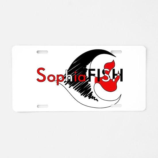 SophiaFISH Aluminum License Plate