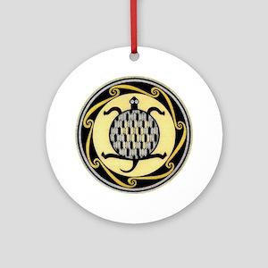 MIMBRES SWIMMING TURTLE BOWL DESIGN Ornament (Roun