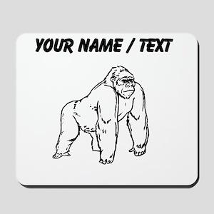 Custom Gorilla Drawing Mousepad