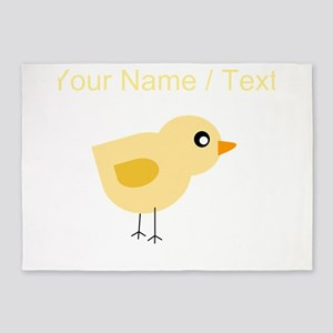 Custom Yellow Chick 5'x7'Area Rug