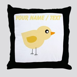 Custom Yellow Chick Throw Pillow