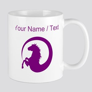 Custom Purple Horse Design Mugs