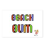 BEACH BUM  Postcards (Package of 8)