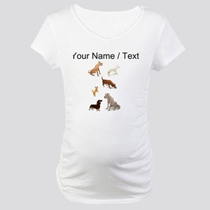 Custom Dogs Maternity T-Shirt