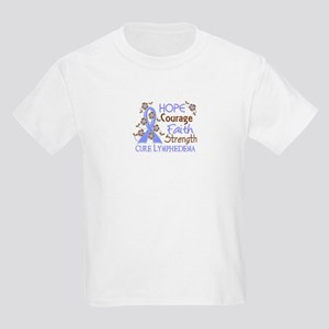 Lymphedema Courage Faith 3 Kids Light T-Shirt