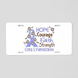 Lymphedema Courage Faith 3 Aluminum License Plate