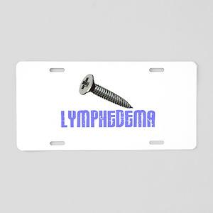 Screw Lymphedema 1 Aluminum License Plate