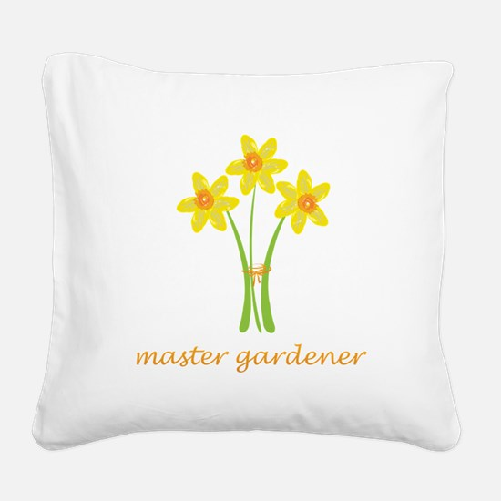 Cute Yellow Daffodils Square Canvas Pillow
