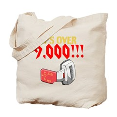 over 9,000 Tote Bag