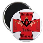 Amateur radio Masons Magnet