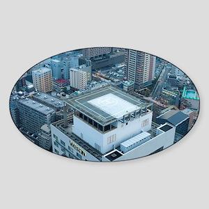 rooftop helipad Sticker (Oval)