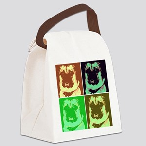 Pop Art Pug Canvas Lunch Bag