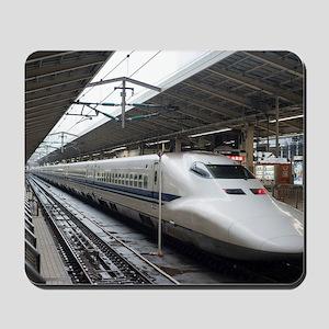 Shinkansen bullet train in station Mousepad