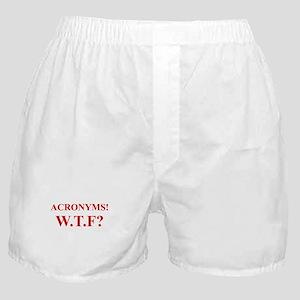 Acronyms! WTF? (Times Roman) Boxer Shorts
