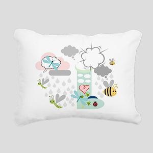 Rainy Day Friends Rectangular Canvas Pillow