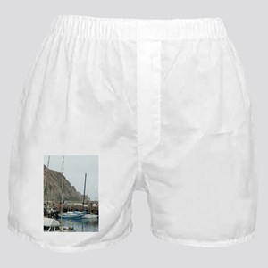 morro bay marina Boxer Shorts
