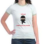 Ninja Computer Engineer Jr. Ringer T-Shirt