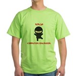 Ninja Computer Engineer Green T-Shirt
