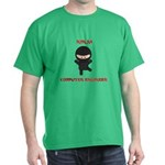 Ninja Computer Engineer Dark T-Shirt