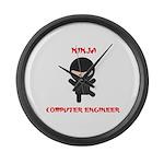 Ninja Computer Engineer Large Wall Clock