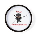 Ninja Computer Engineer Wall Clock