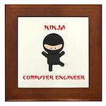 Ninja Computer Engineer Framed Tile