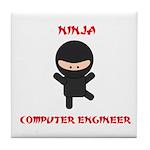 Ninja Computer Engineer Tile Coaster