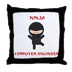 Ninja Computer Engineer Throw Pillow