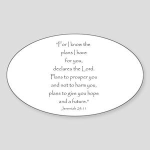 Jeremiah 29:11 Oval Sticker