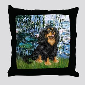 Lilies (1) & Cavalier (BT) Throw Pillow