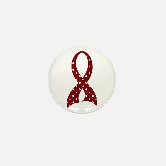 Brain Aneurysm Polka Dot Ribbon Mini Button