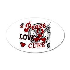 Brain Aneurysm Peace Love Cu Wall Decal