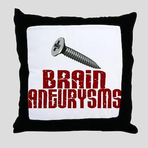 Screw Brain Aneurysms Throw Pillow