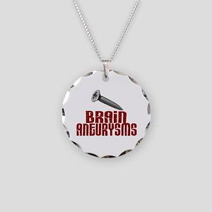 Screw Brain Aneurysms Necklace Circle Charm