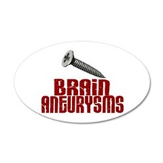 Screw Brain Aneurysms Wall Decal