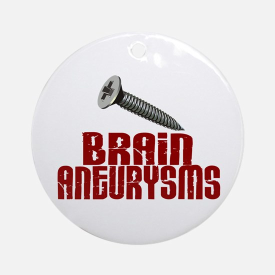 Screw Brain Aneurysms Ornament (Round)